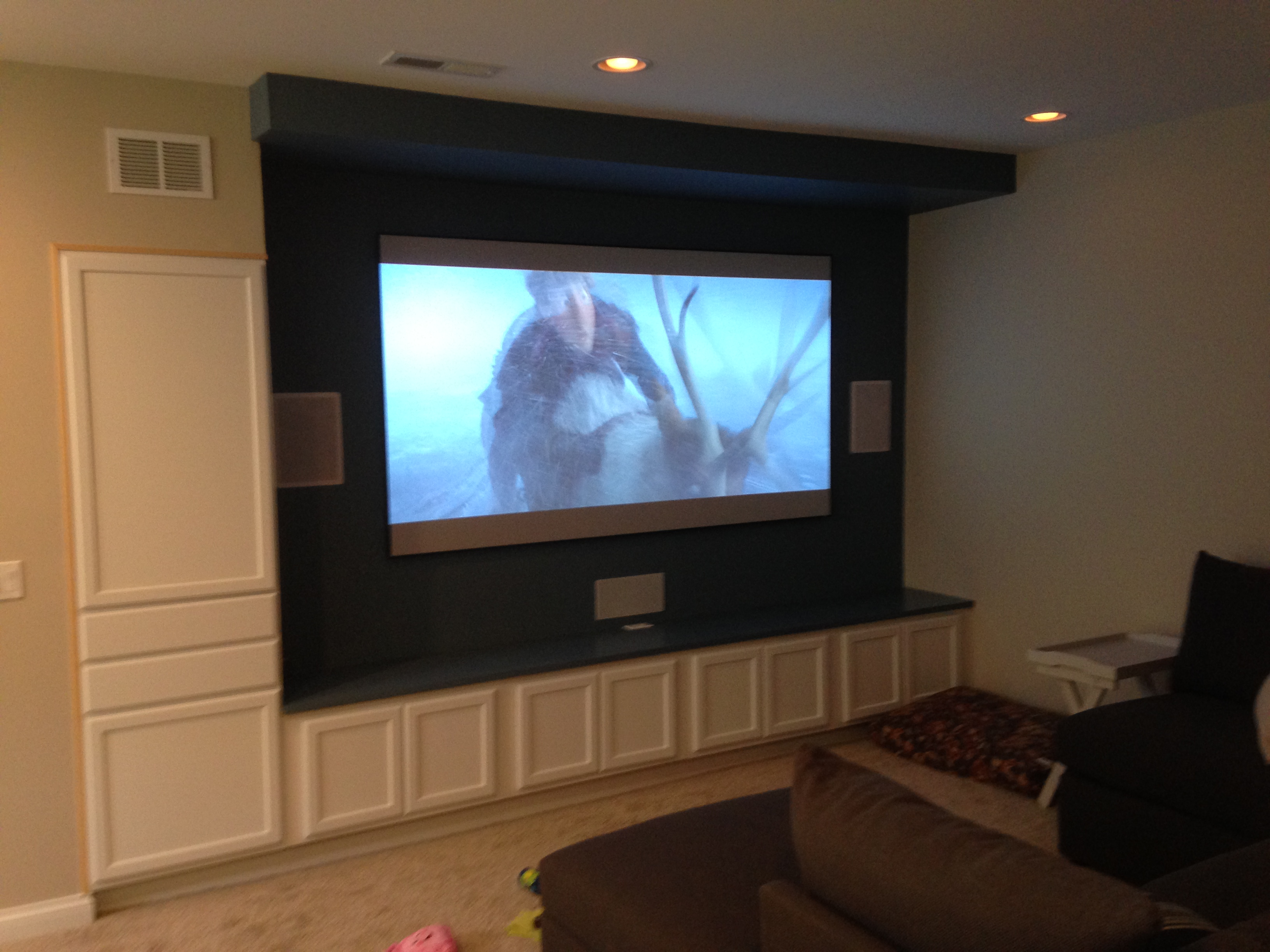 Basement theater room