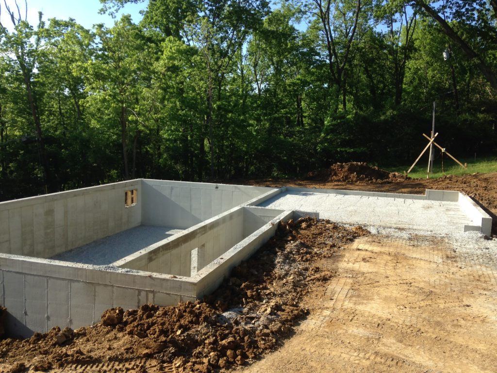 New construction foundation