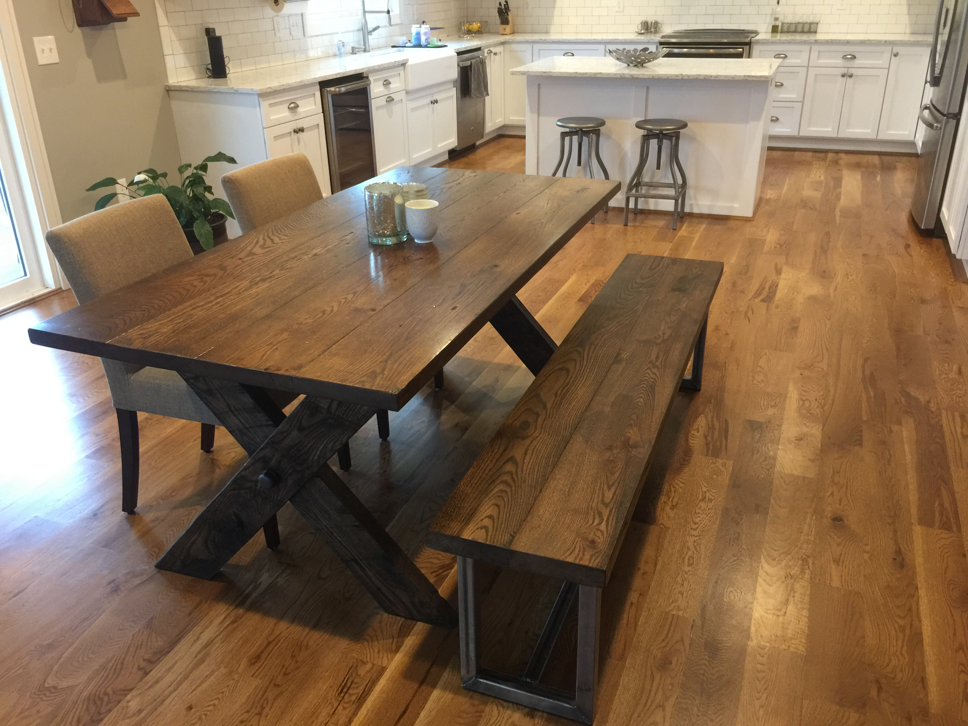 Custom table and bench